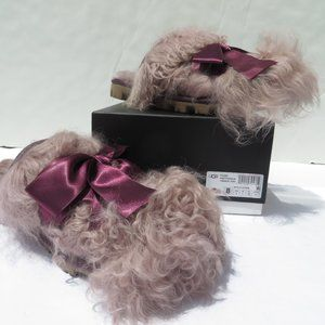 UGG Classic Coquette Mongolian Slippers 8 NEW PORT